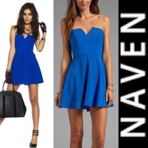 NAVEN Bombshell Circle Skirt Cobalt Blue Dress XS